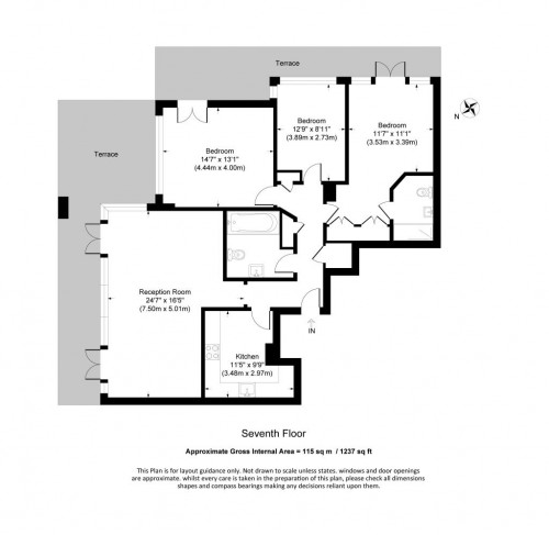 Floorplan for WARREN HOUSE, BECKFORD CLOSE, KENSINGTON, LONDON